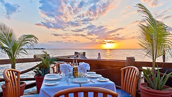 Terraza de restaurante en Cancún