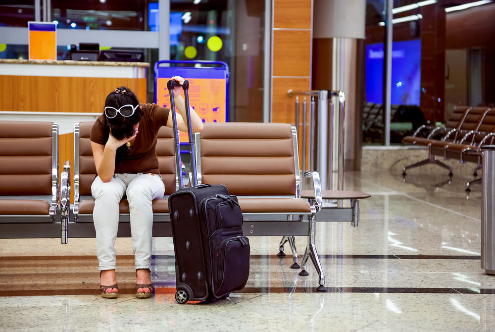 Chica que perdió el vuelo