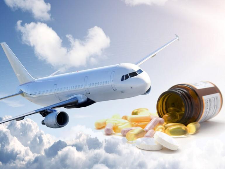 Medicinas en avión