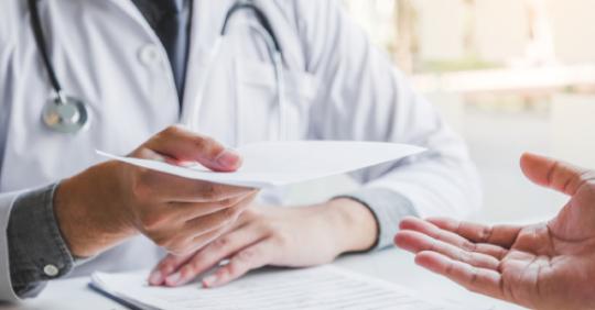 Entrega de recetas médicas